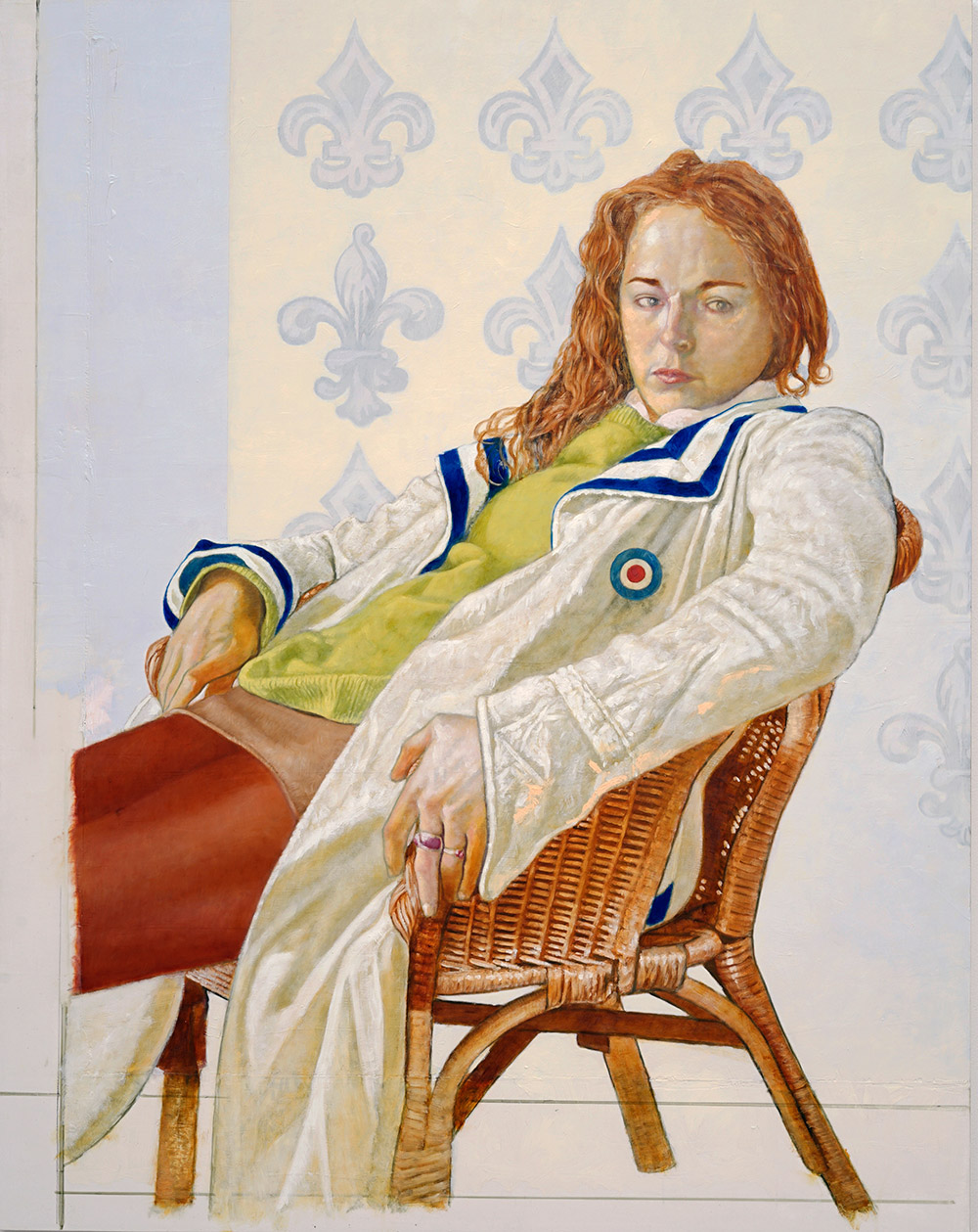 Tadzio (Schubert), 2018, 140 x 118 cm, oil on wax, on canvas, on panel