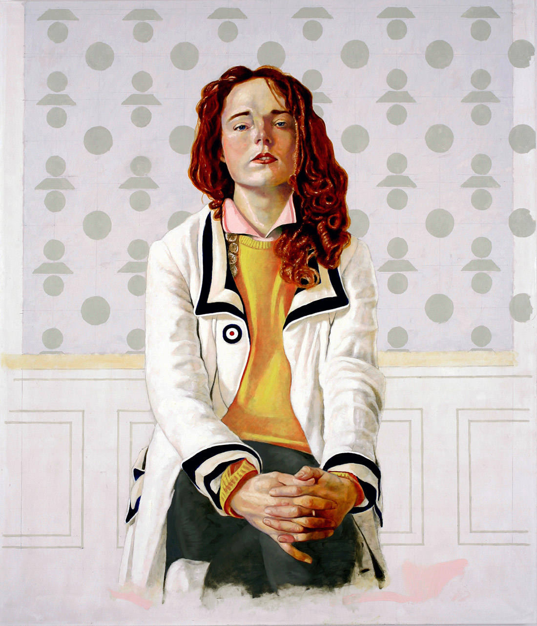 Tadzio / Tadzio, 2014, 185 x 160 cm, oil on wax, on canvas, on panel